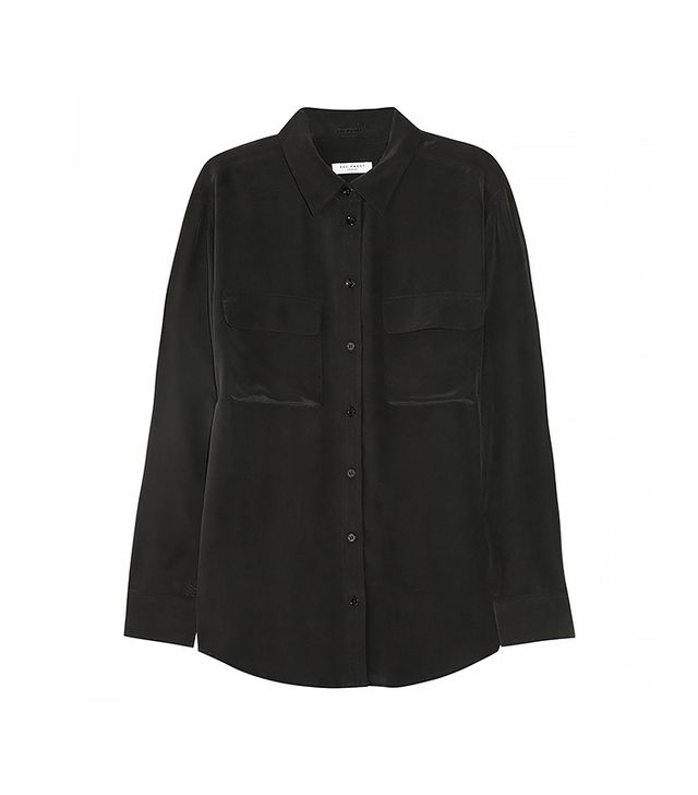 Equipment Signature Washed Silk Shirt ($210) in Black