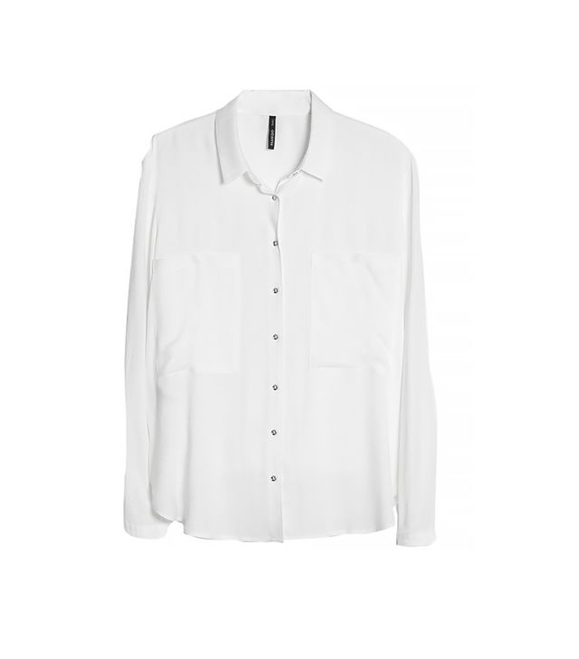 Mango Crepe Shirt ($55) in Off-White