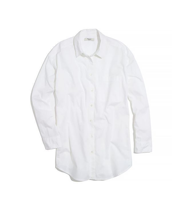 Madewell Oversized Button-Down Shirt ($75) in White