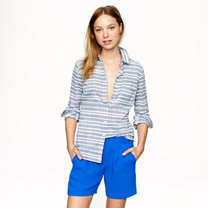 J.Crew Boy Shirt In Stripe Gauze
