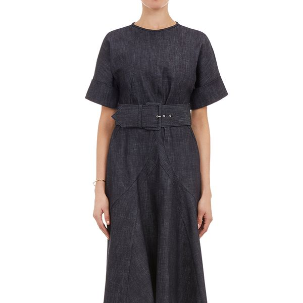 Derek Lam Denim Belted Dress