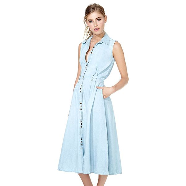Nasty Gal Let Go Denim Dress