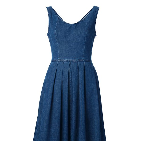 Pinko Pleated Denim Dress