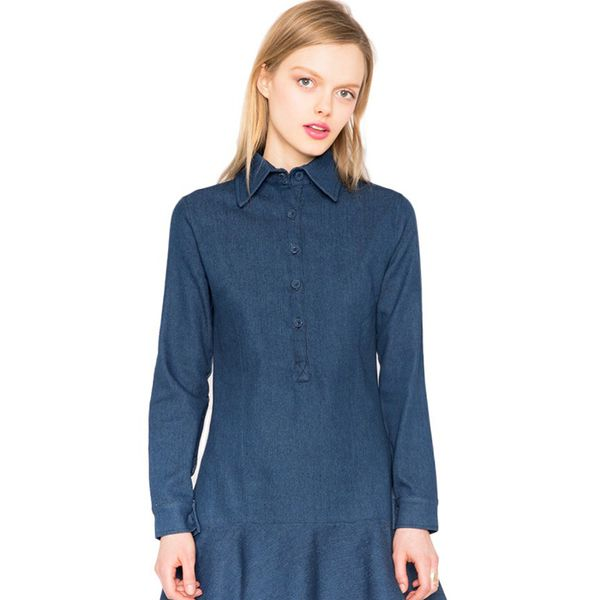 Pixie Market Denim Peplum Dress