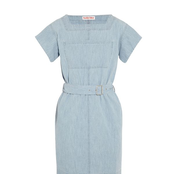See by Chloe Belted Denim Mini Dress