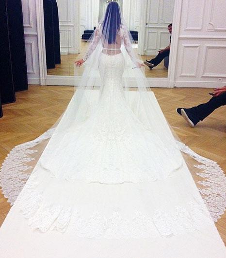 First Look! Kim Kardashian's Stunning Givenchy Wedding Dress