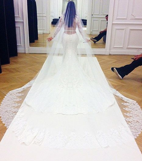Kim Kardashian Wedding Gown: First Look! Kim Kardashian's Stunning Givenchy Wedding