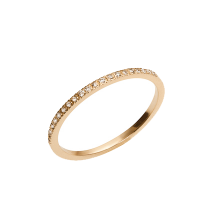 Jennifer Fisher Half Pave Skinny Band With White Diamonds