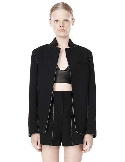 T by Alexander Wang Double Face Bonded Collar Blazer