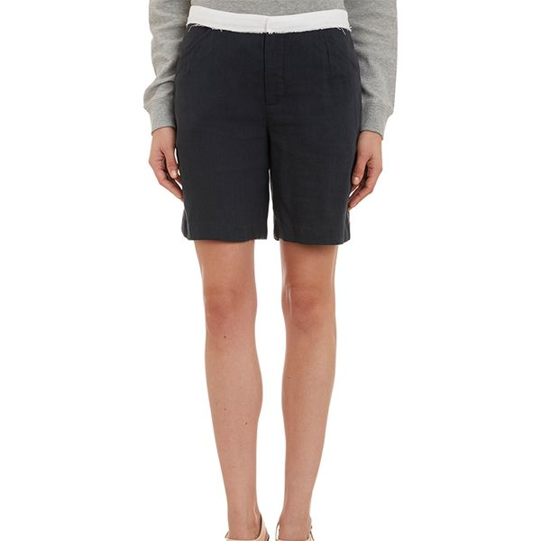 Band of Outsiders Contrast-Waist Long Shorts