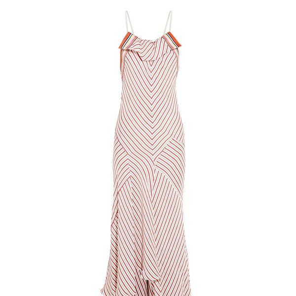 Chloe Striped Crepe Dress