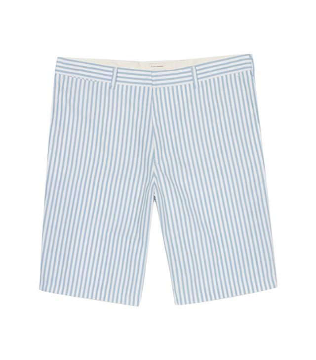 Club Monaco Butcher Stripe Shorts ($70)