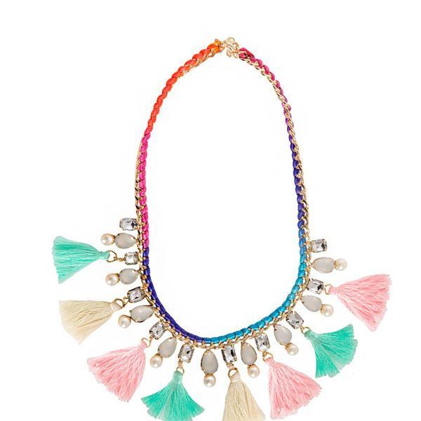 Pixie Market Pastel Statement Necklace