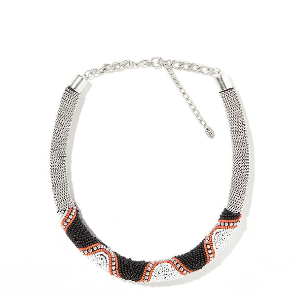 Zara Beaded Rigid Necklace