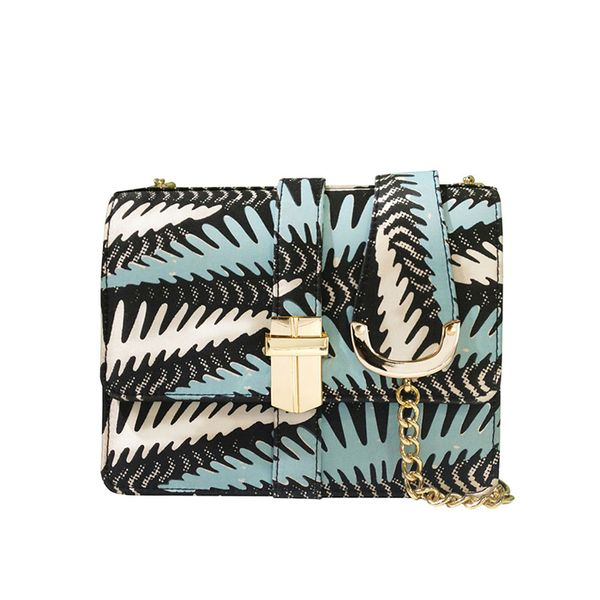 Angel Jackson Mini Petra Screen Printed Silk Satchel