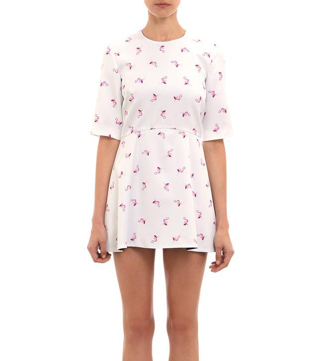 Wayne Flamingo-Print Skort Romper ($379)