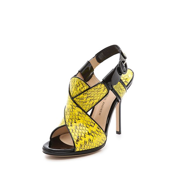 Paul Andrew Babylon Snakeskin Sandals