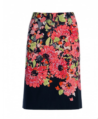 Nic + Zoe Floral Print Pencil Skirt