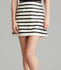 MINKPINK Stripe A-Line Skirt