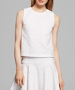 DKNY Sleeveless Boxy Shell Top