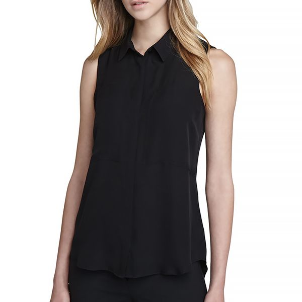 Theory Duria Sleeveless Silk Blouse