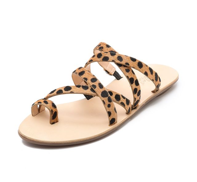 Loeffler Randall Sarie Haircalf Strappy Flat Sandals