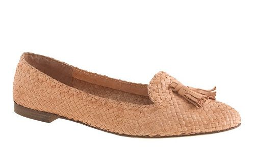 J.Crew Basket-Weave Loafers