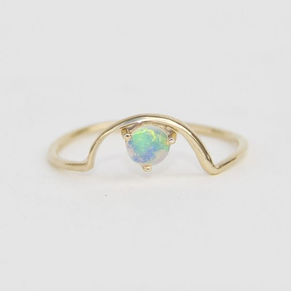 Wwake Mini Arc Opal Ring