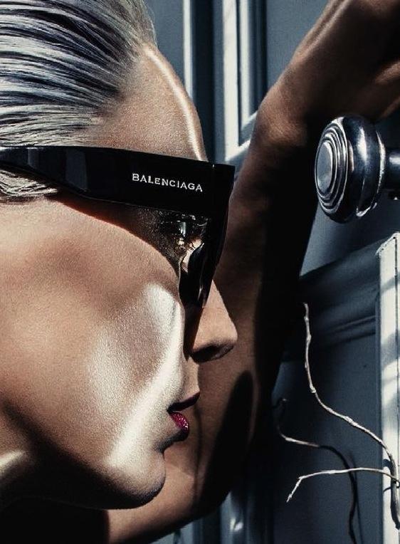 Daria Werbowy For Balenciaga's S/S 2014 Eyewear Campaign
