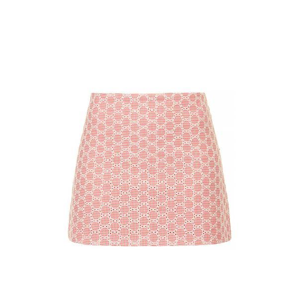 Topshop Gingham Pelmet Skirt