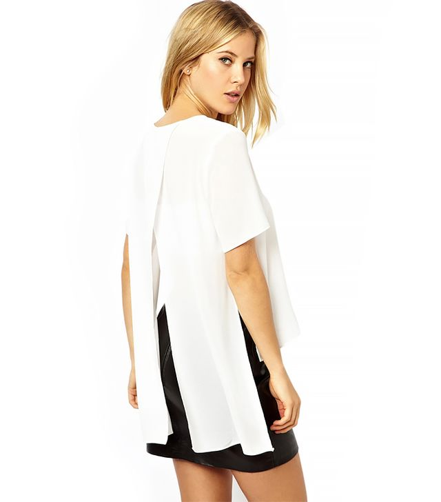 ASOS Top with Drape Split Back