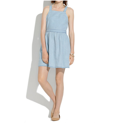 Madewell Linen Pinafore Dress