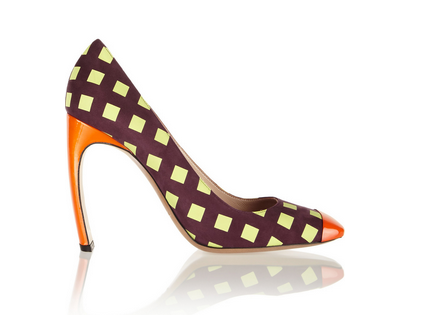Nicholas Kirkwood Printed Suede and Patent-Leather Pumps