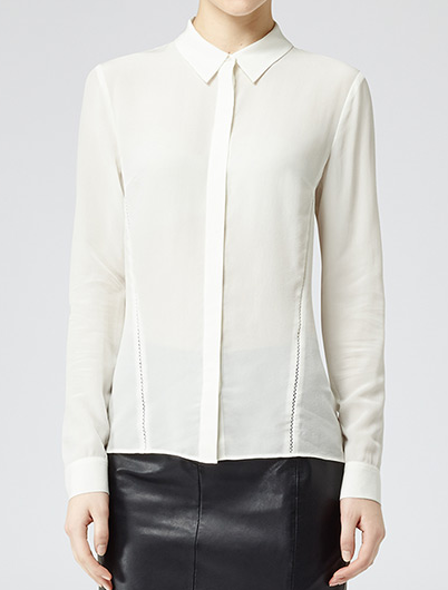 Reiss Sphymx Long Sleeve Detail Shirt