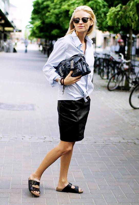 16 Cool New Ways To Wear Birkenstocks Who What Wear