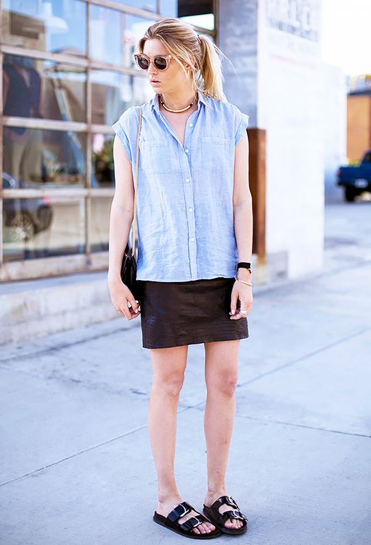 Key Styling Piece: NIC+ZOE Drapey Denim Layer Top ($98) in Mid Denim