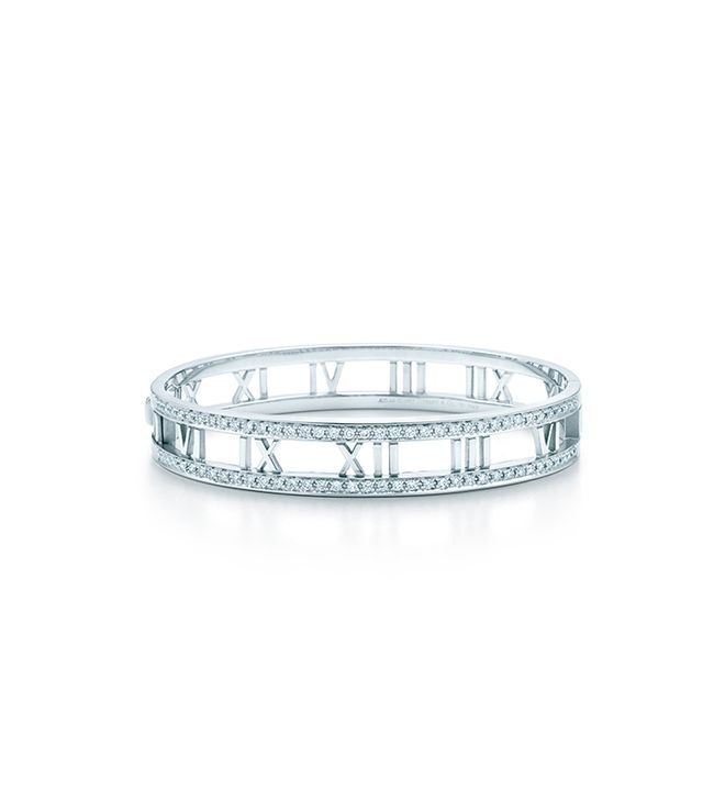 Atlas® Bangle in 18k white gold with diamonds