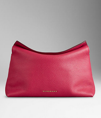 Burberry Prorsum Grainy Leather Clutch Bag
