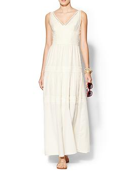 Greylin Roseli Lace Trim Maxi Dress
