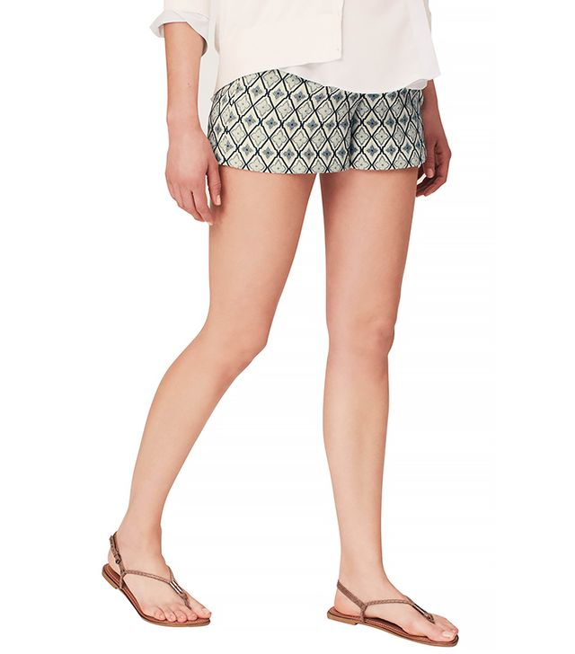 LOFT Maternity Tile Jacquard Riviera Shorts With 4 Inch Inseam
