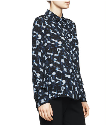 Proenza Schouler Printed Pocket Blouse