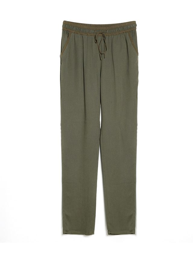 Mango Flowy Baggy Trousers