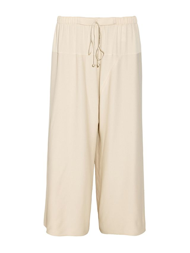 The Row Nopraw Cropped Woven Wide-Leg Pants