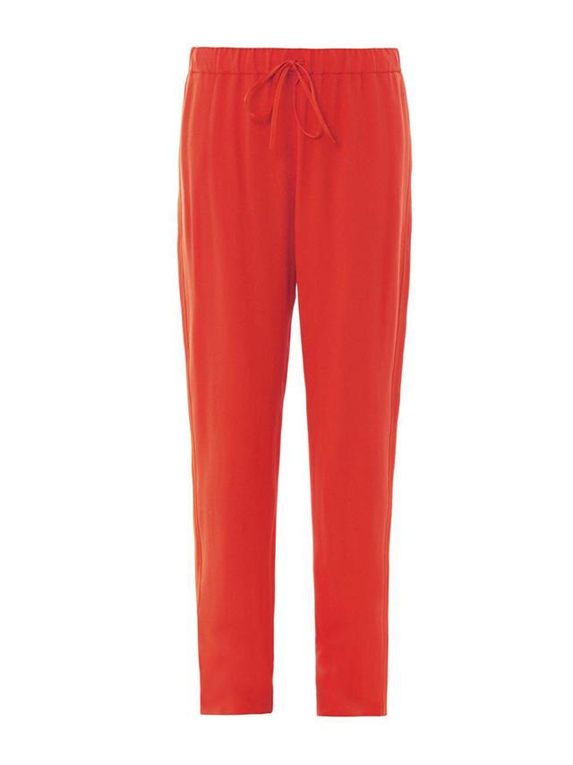 Vanessa Bruno Athe Tuxedo-Stripe Crepe Jogging Trousers