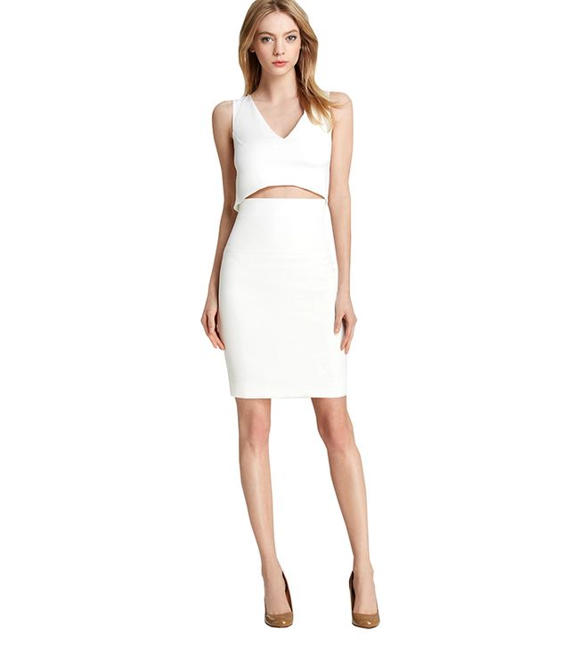 French Connection Glamour Stretch Slit Dress