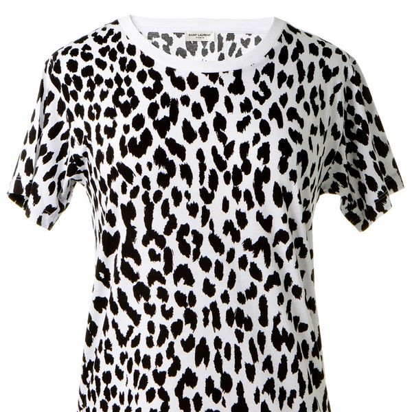 Saint Laurent Leopard Print T-Shirt
