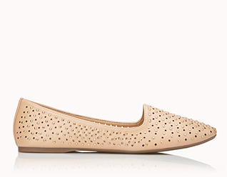 Forever 21 Total Stud Perforated Loafers