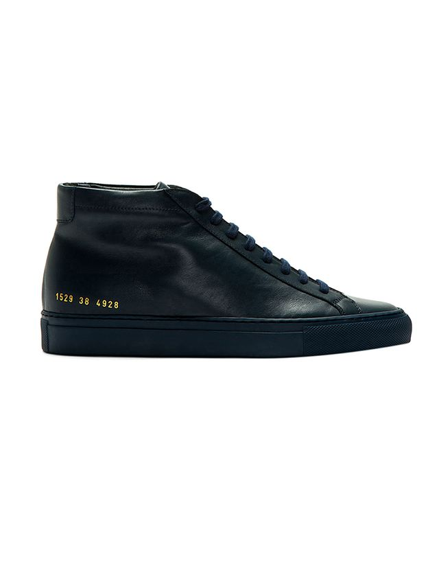 Common Projects Midnight Navy Leather Original Achilles Sneakers
