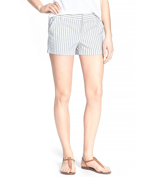 Caslon Flat Front Stretch Cotton Shorts