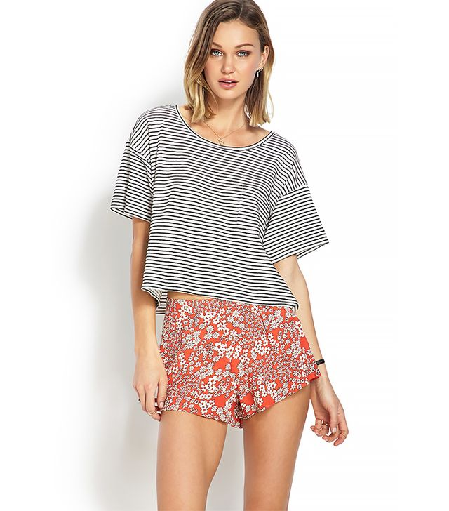 Forever 21 Retro Floral Print Shorts